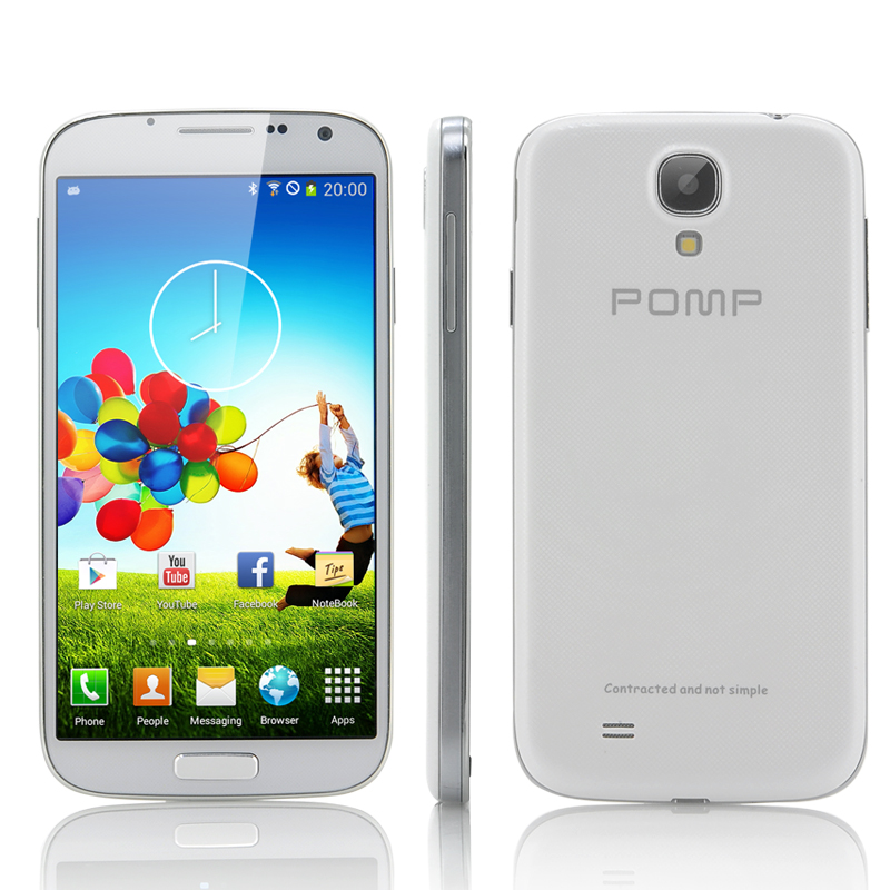 Wholesale POMP W88A - 5 Inch Quad Core Android 4.2 Phone (1.2GHz CPU, 1GB RAM, 5MP Camera, GPS, White)