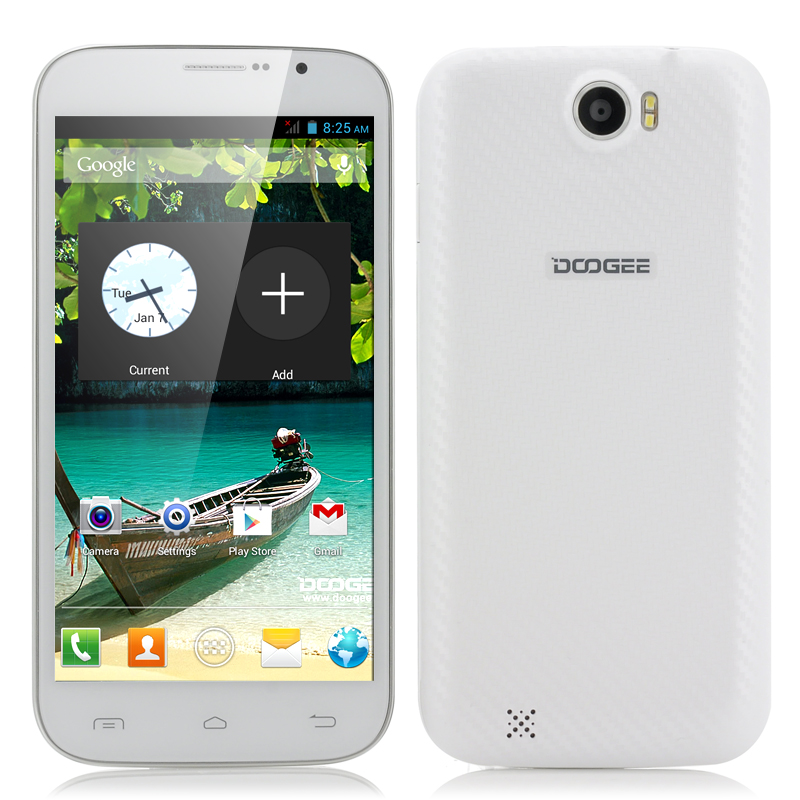 Wholesale DOOGEE BIGBOY DG600 - 6 Inch 3G Android Phone (qHD, GPS, 1.3GHz Dual Core CPU, White)