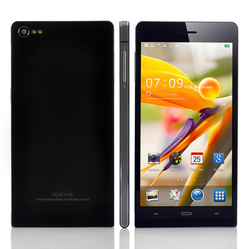 Wholesale Gravity - Ultra Thin 6 Inch Android 4.2 Phone (NFC, 1.3GHz Quad Core CPU, 720p, 8GB, Black)