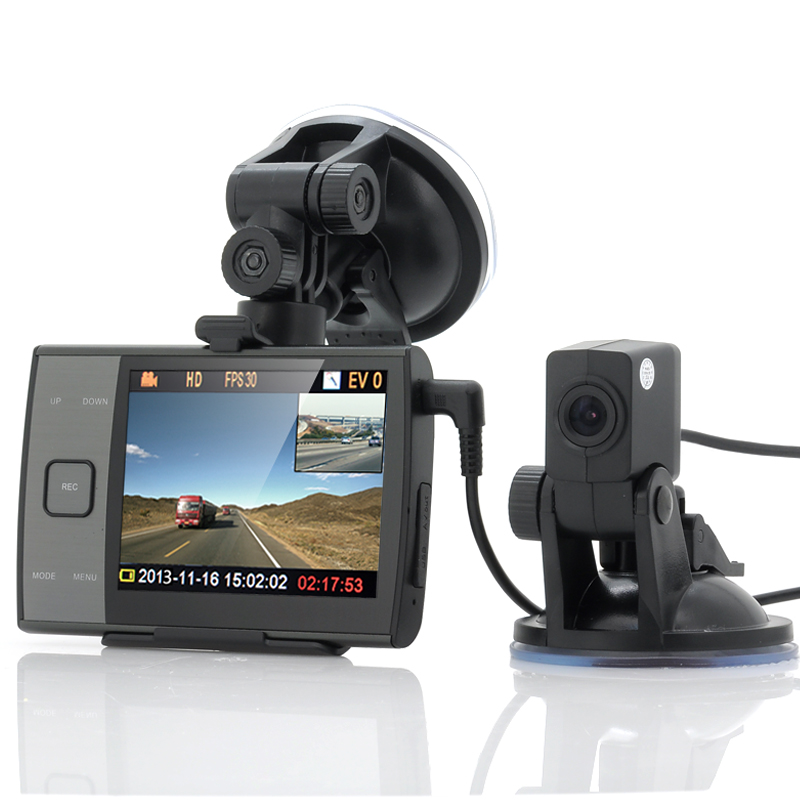 Wholesale Duo-View - 720p Car Blackbox DVR With Dual Cameras (3.5 Inch Scr