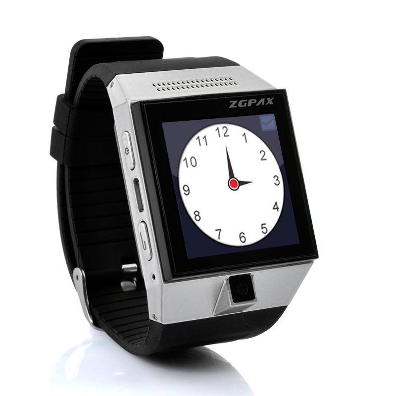 Wholesale ZGPAX S5 - Android 4.0 Smart Phone Watch (1.54 Inch Screen, 2MP Camera, GPS, Dual Core 1GHz CPU, Silver)