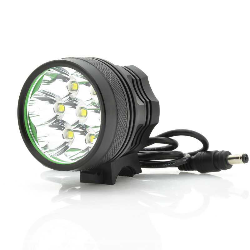 Wholesale 5800 Lumens White Bicycle Light + Headlight (7x Cree XM-L2 T6 LEDs, IPX6 Waterproof)
