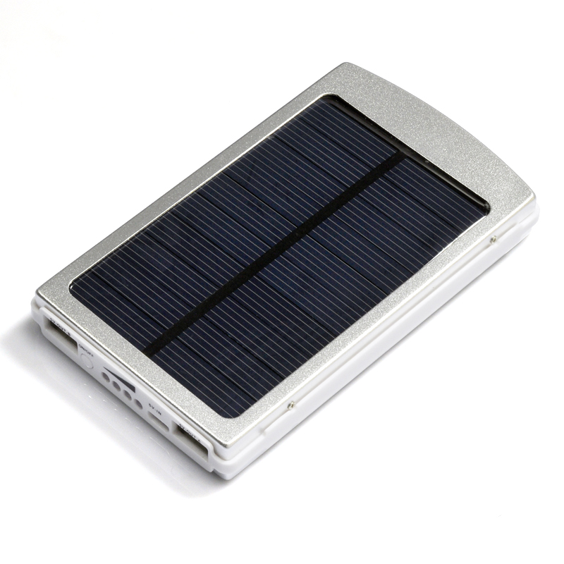 Wholesale Solar Power Bank (10000mAh, 2 USB Ports)