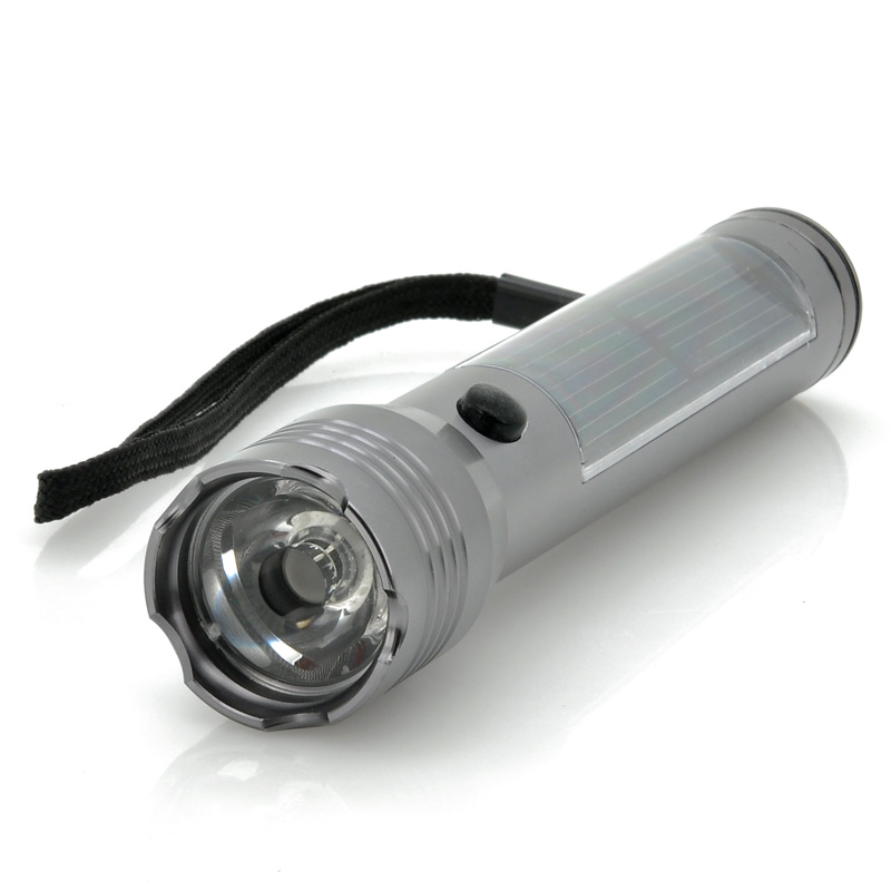 Wholesale Solar CREE XR-E Q5 LED Flashlight (75 Lumens, White, 1200mAh)