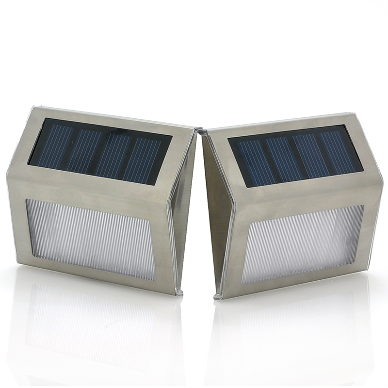 Wholesale Waterproof Solar Lamps Pair (2 LEDs, 600mAh, Rechargeable)