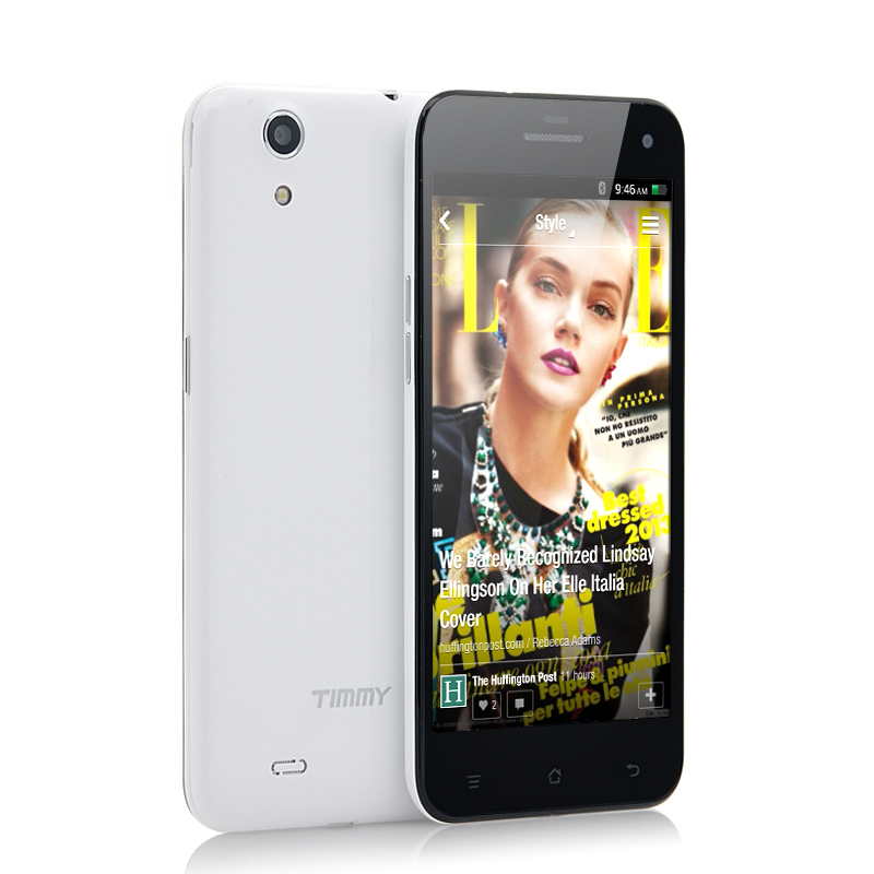 Wholesale Timmy E82 - Ultra Thin 5 Inch Android 4.3 Phone (OGS IPS Screen, 1280x720, 1.3GHz Quad Core CPU, GPS, White)