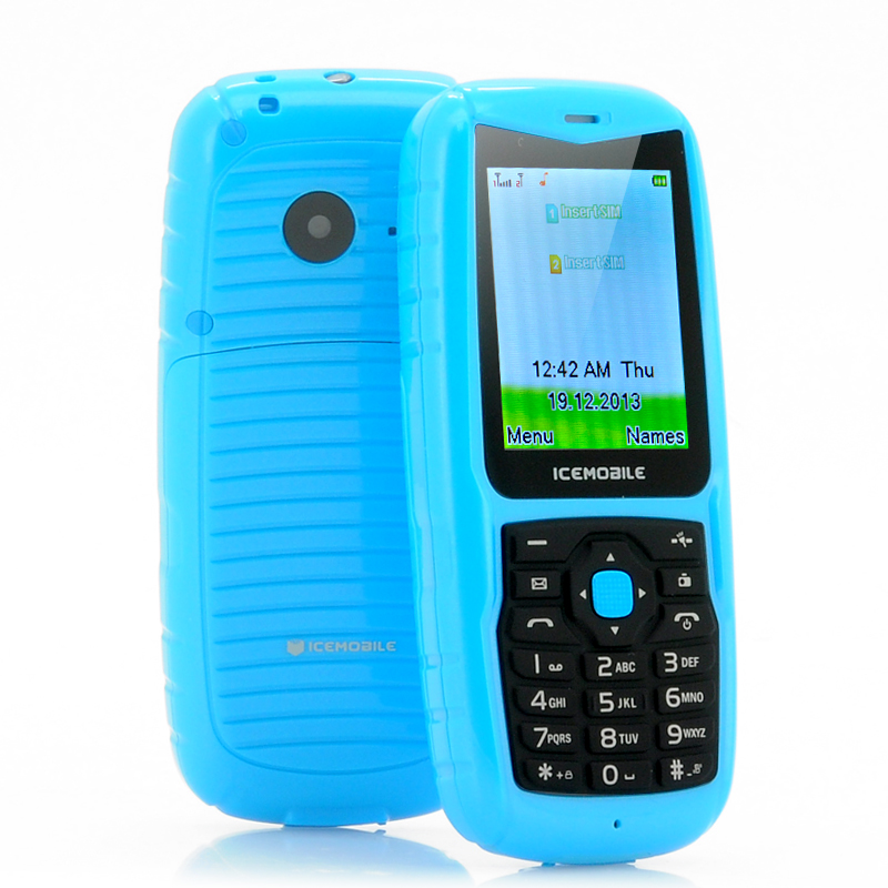 Wholesale Icemobile Hydro - 2 Inch IP54 Water Resistant Phone (Dual SIM, Floats on Water, Blue)