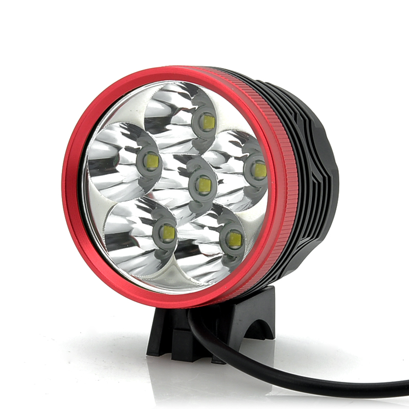 Wholesale 4500 Lumens White Light Bicycle Lamp + Headlight (6x Cree XM-L T6 LEDs, IPX6 Waterproof, 5 Modes)