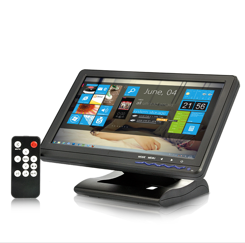 Wholesale 10.1 Inch 4-wire Touchscreen Monitor (1024x600, HDMI, AV, VGA, YPbPr IN)