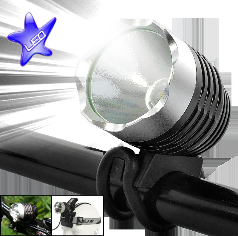 Wholesale LED Bicycle Headlight + Personal Headlamp (1200 Lumens, Lightweight)