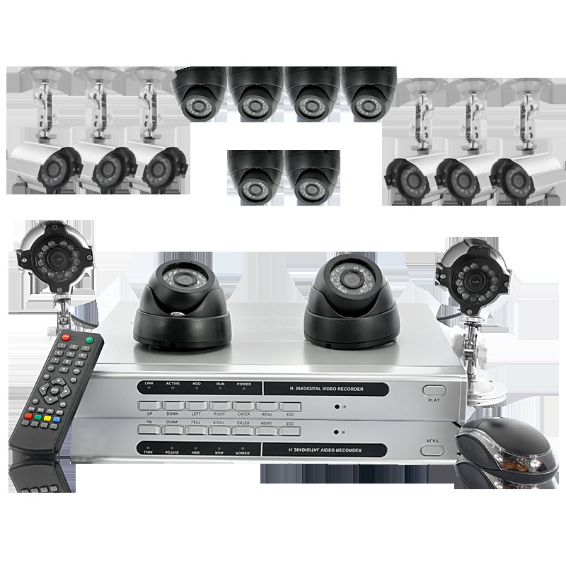 Hexa - Professional Security DVR with 16 CCD Cameras - 1TB HDD, 1/3 CCD lens