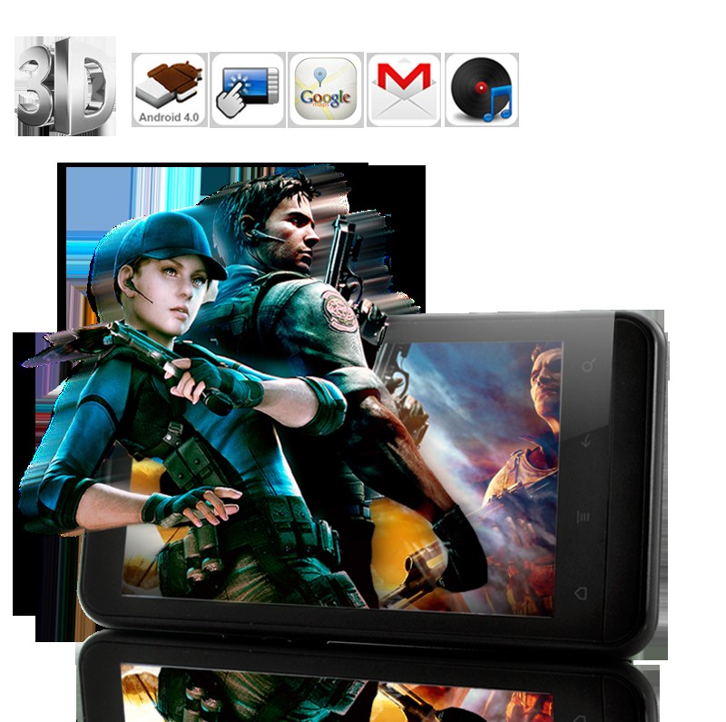 4.3 Inch QHD 3D Screen Android 4.0 Cell Phone with 8MP Camera