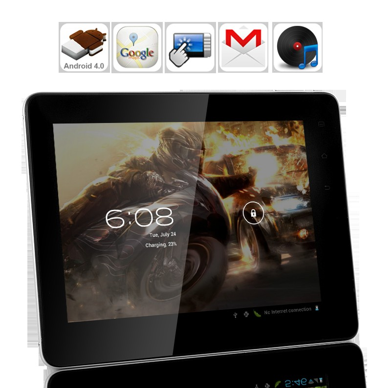 "Wholesale Azure - Android 4.0 Tablet PC: 8"" Capacitive Screen, 1.2 GHz CPU, 512MB RAM, Enhanced UI, 8GB"