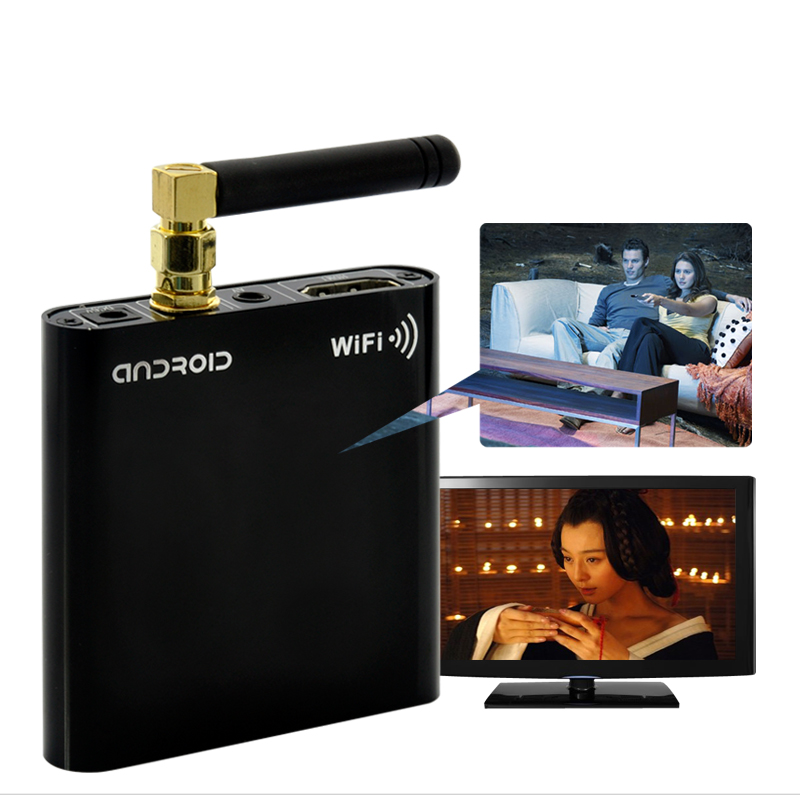 miniDroid - HD Android Media Player: 1920x1080P, 1GHz CPU, 512MB DDR, HDMI, WiFi-N