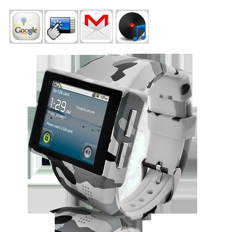 Rock - ACU Camouflage Style Watch Android Smartphone with 2.0 Inch Capacitive Screen