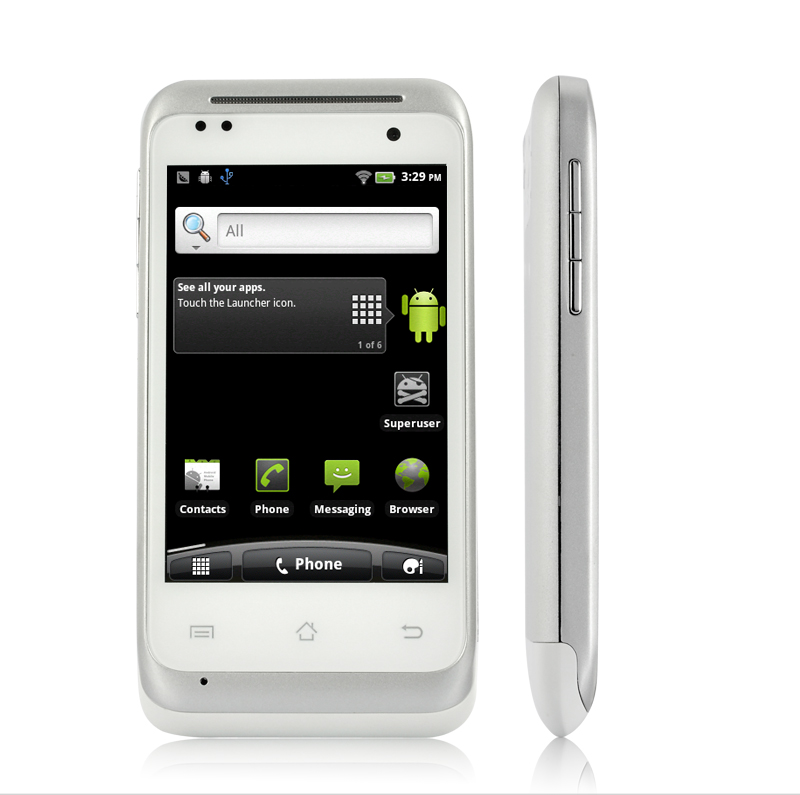 Wholesale Wyte - 3.5 Inch Multi-touch Android Smartphone with Dual SIM - White