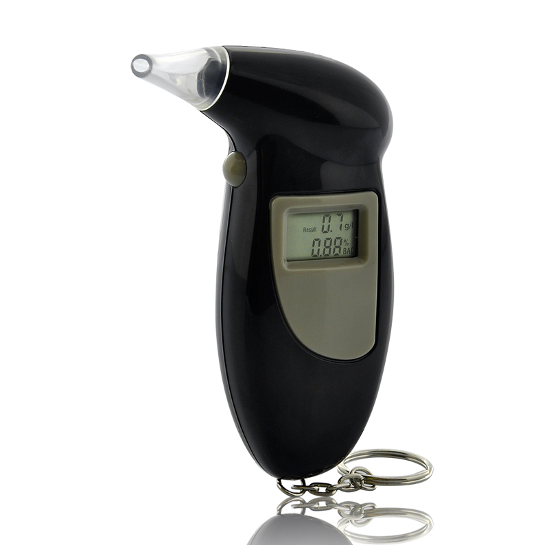 Wholesale Breathalyzer Keychain with Screen Display and Clock - Semiconduc