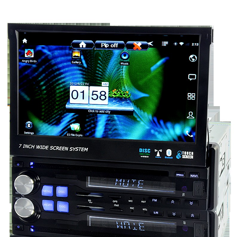 Discover - 1 DIN Android Car DVD with 7 Inch Touchscreen, GPS, 3G, DVB-T, WiFi