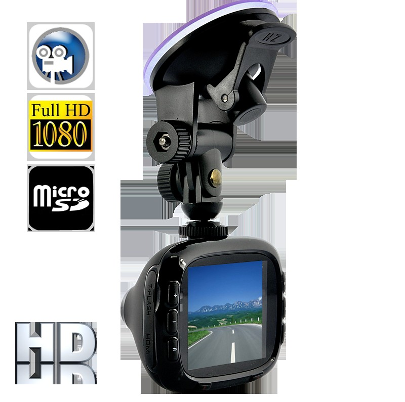 Full HD Portable Car DVR (1080P, HDMI, Motion Detect, MIC, Nightvision)