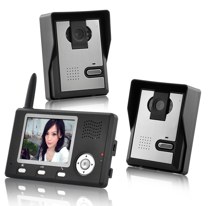 Wholesale Entry Guardian   Wireless Video Door Phone With Two Camera And  3.5 Inch Monitor