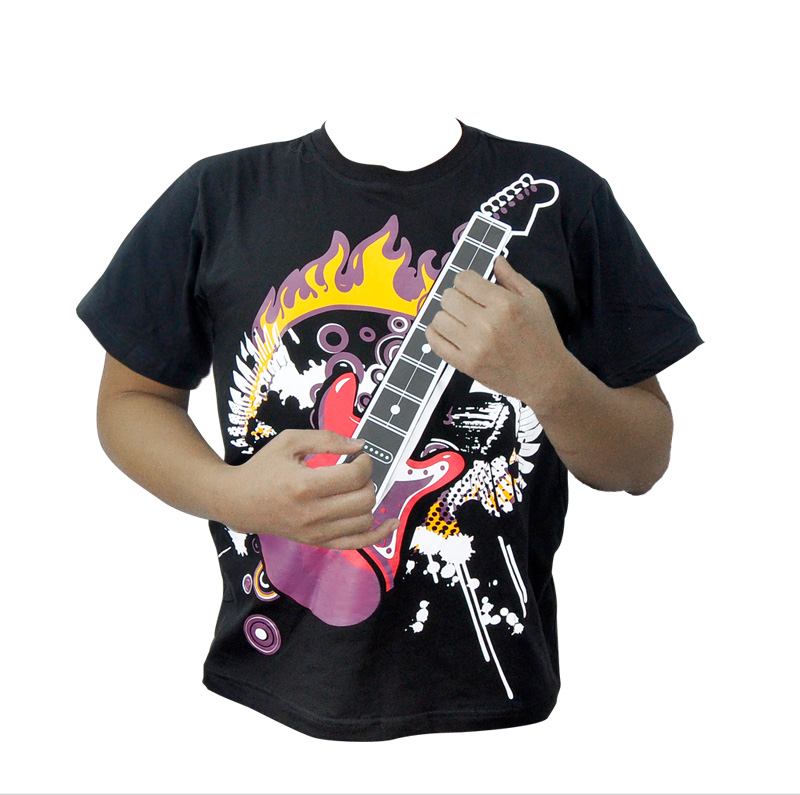 Wholesale Guitar Zero - Electric Rock Guitar T-Shirt - 12 Chords, Washable