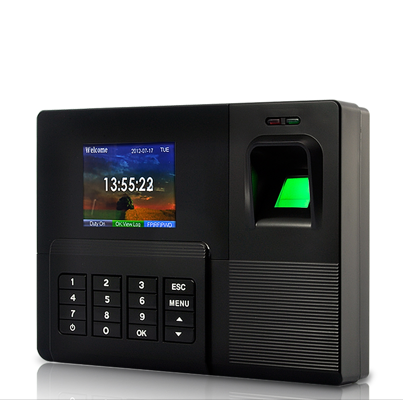 Fingerprint Time Attendance Recorder with 6 Identification Modes - Keep Up to 1000 Fingerprints, 100,000 Records