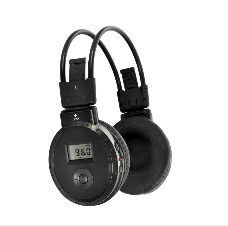 Wholesale LCD Display Foldable Headphone with MP3 Player and FM Radio