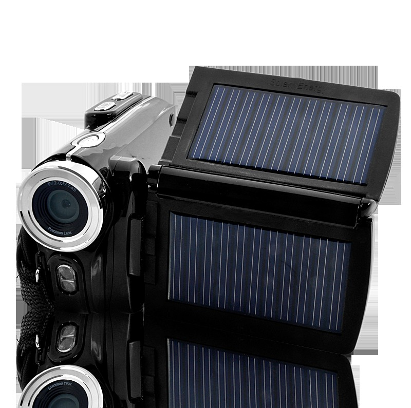 Wholesale 16.0MP HD Digital Video Camera with Dual Solar Charging Panels and 3 Inch LCD Screen