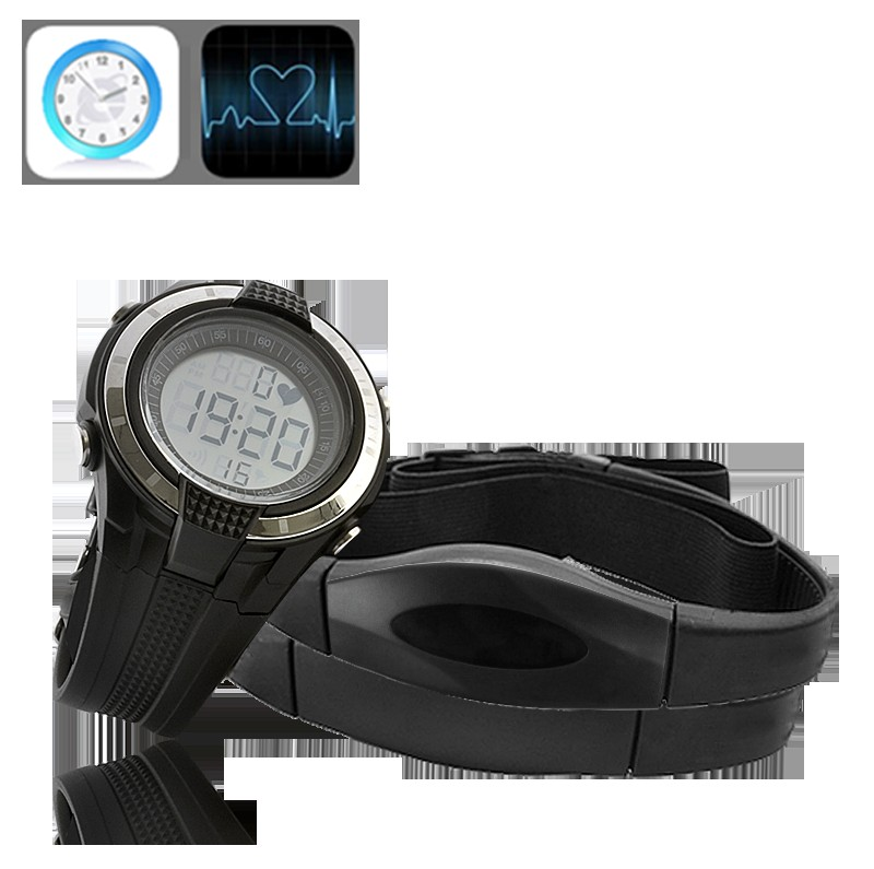 Heart Rate Monitor with Wrist Stop Watch and Chest Belt
