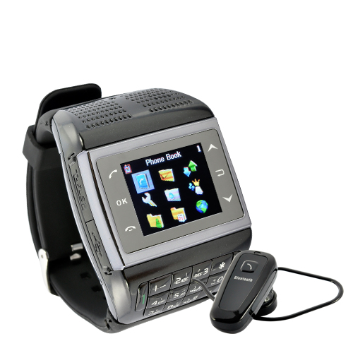 Wholesale Panther - 1.3 inch Touchscreen Mobile Phone Watch with Keypad (Bluetooth, Quadband)