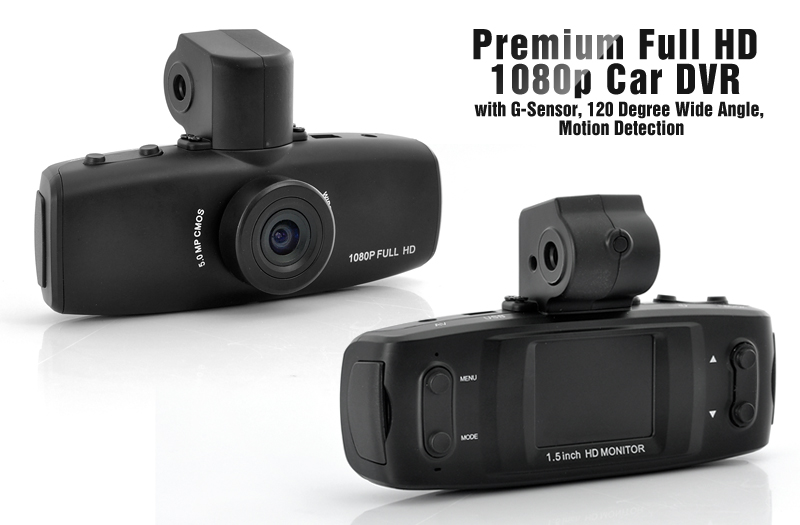 Full Hd 1080p Car Dvr With 1 5 Inch Lcd G Sensor 120 Degree Wide
