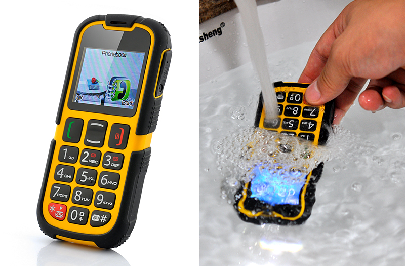 Waterproof Senior Citizen Rugged Cell Phone Quad Band