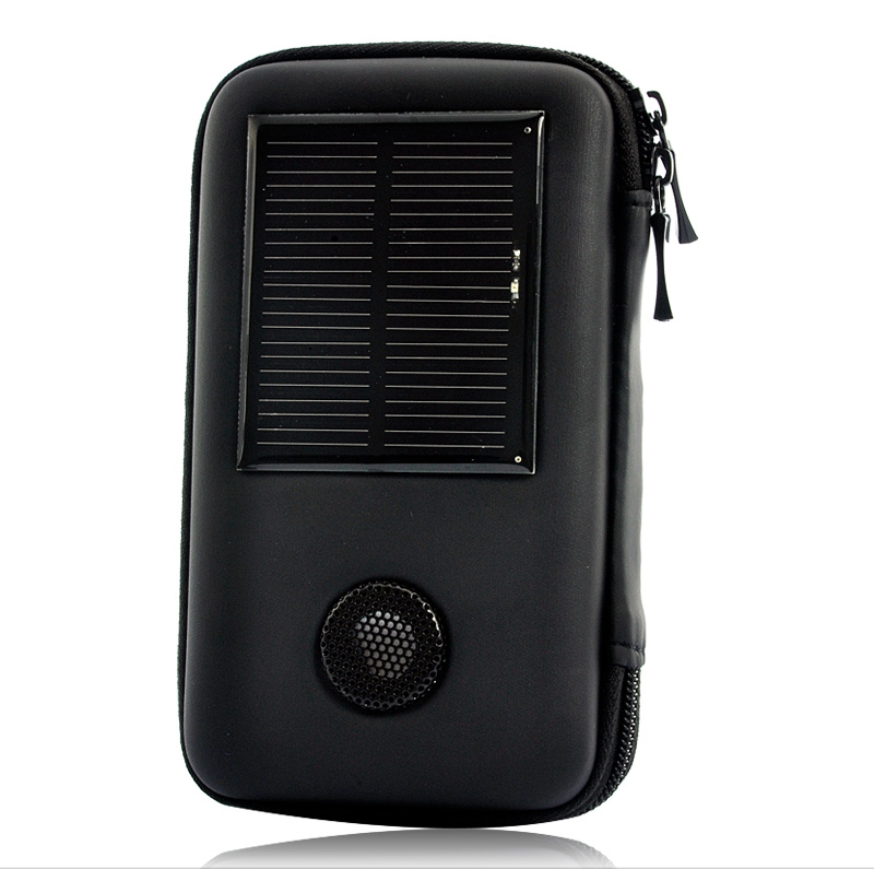 Wholesale Solar Battery Charger Case with Built-in Speakers (1000 mAh, 6 Connectors)