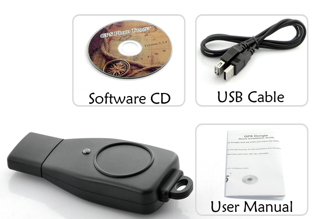 USB GPS Receiver for Laptops and Windows Tablet (65 Channels, High Accuracy)