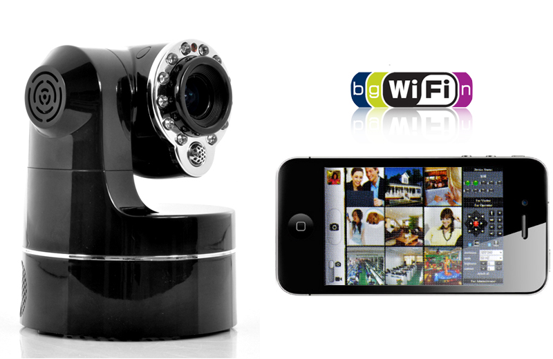 Smartphone Ptz Control Wireless Ip Camera 3 X Optical
