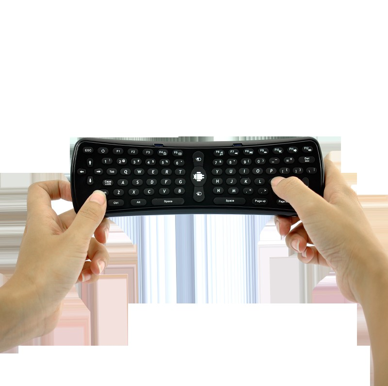 Wholesale Wireless Mini QWERTY Keyboard with Motion Control Mouse for Mac, Computers, Android TV Boxes