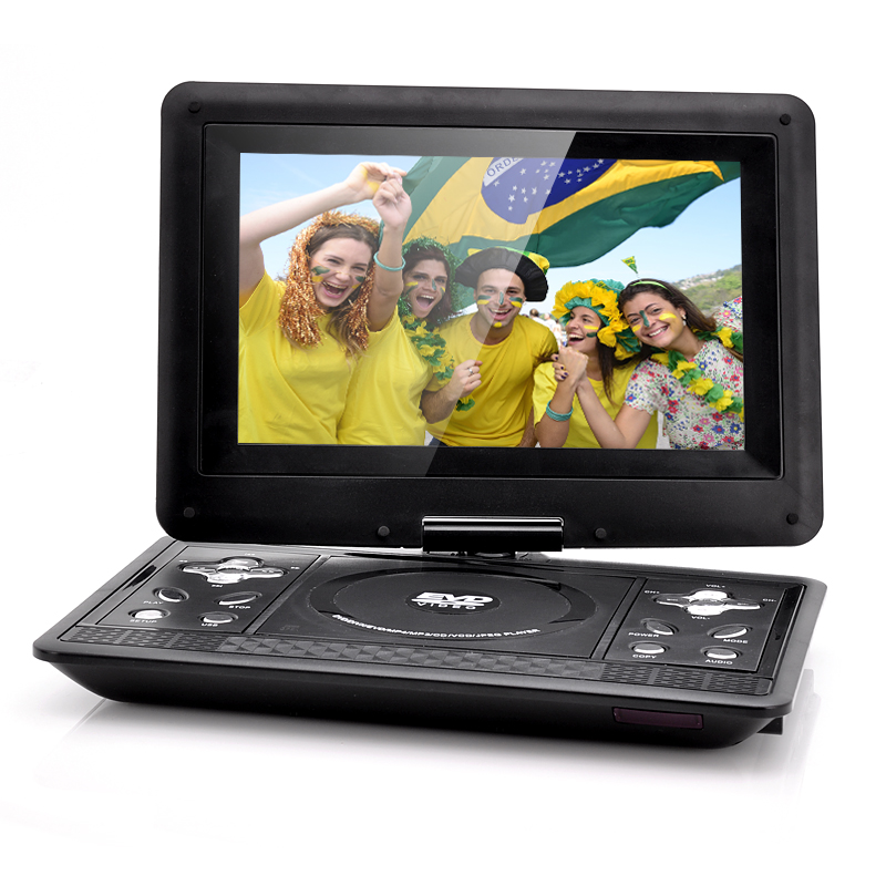 Wholesale 10.1 Inch Gaming Portable DVD Player (Copy Function, 1024x768, 270 Degree Swivel Rotation)