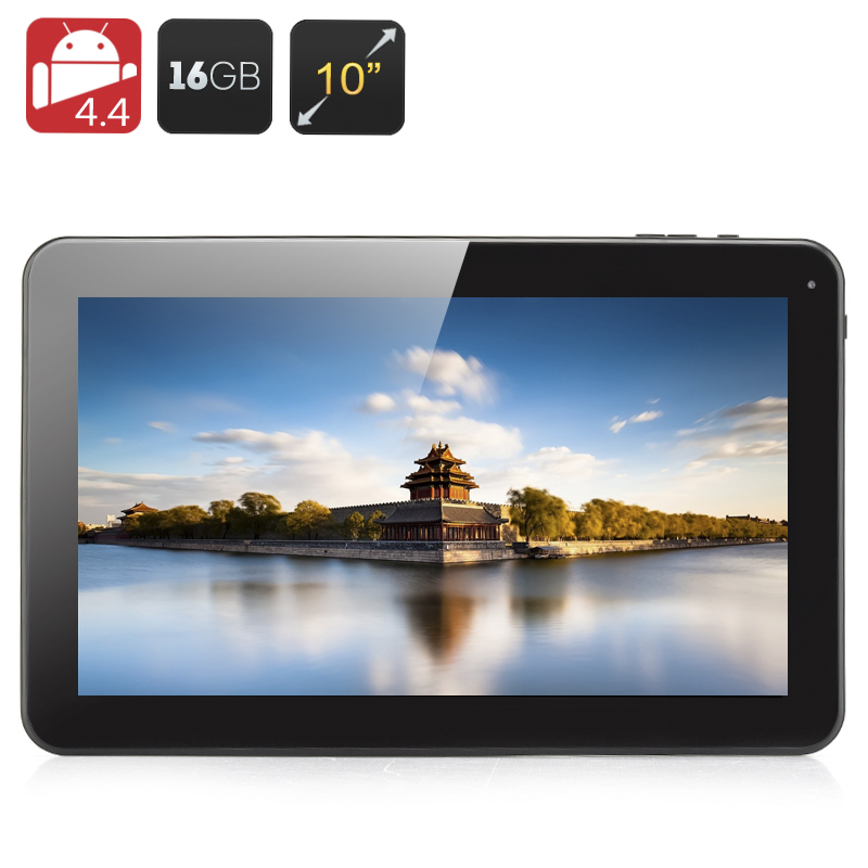 Wholesale 10.1 Inch Quad Core Android 4.4 Tablet (1GB RAM, 16GB, 5000mAh, White)