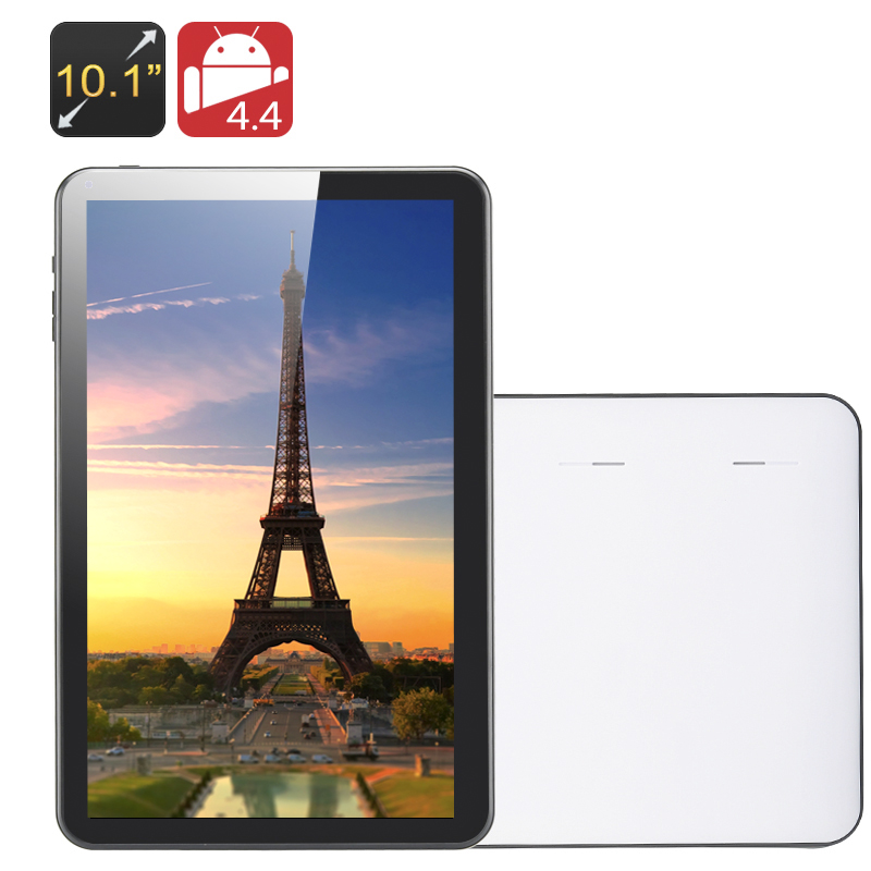 Wholesale Kappa - 10.1 Inch Quad Core Tablet PC (1024x600, OTG, 8GB, 5000mAh, White)