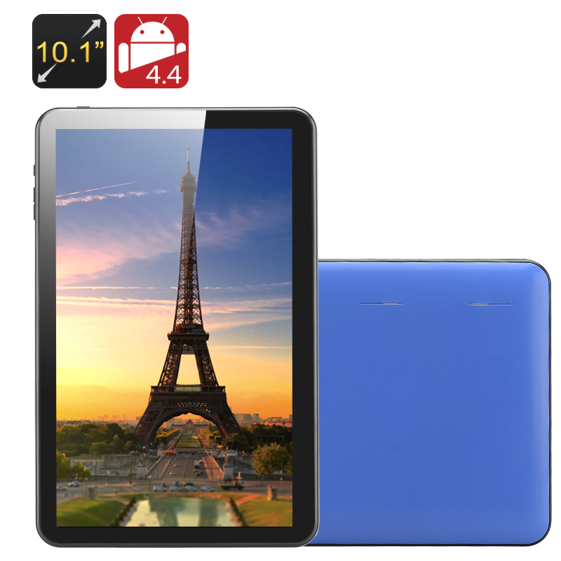 Wholesale Kappa - 10.1 Inch Quad Core Tablet PC (1024x600, OTG, 8GB, 5000mAh, Blue)