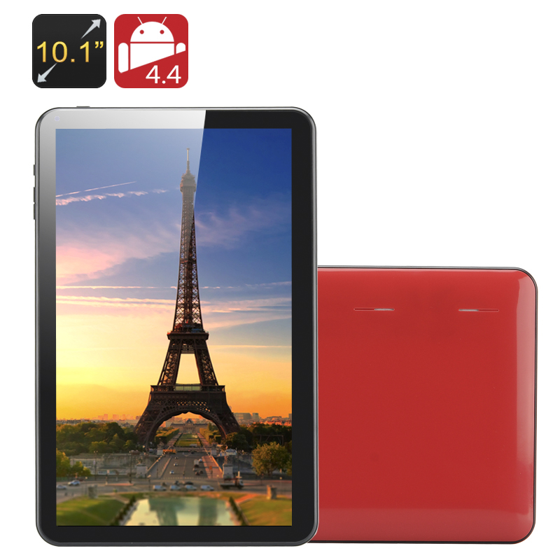 Wholesale Kappa - 10.1 Inch Quad Core Tablet PC (1024x600, OTG, 8GB, 5000mAh, Red)