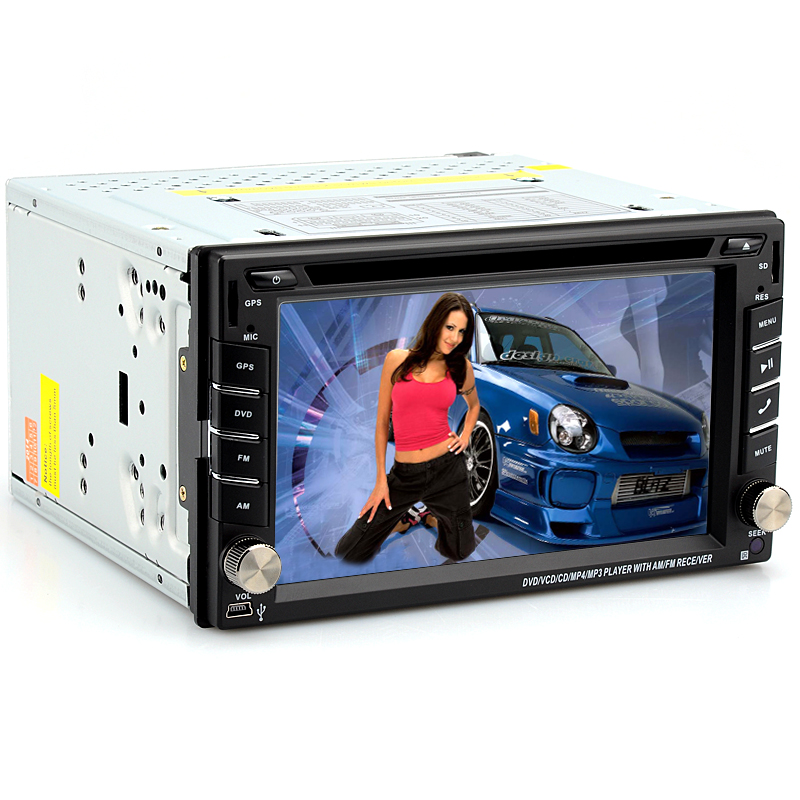 Wholesale 2 DIN Universal Bluetooth GPS Car DVD Player (Windows CE, iPod/iPhone Support, RDS, 800x480, 6.2 Inch)