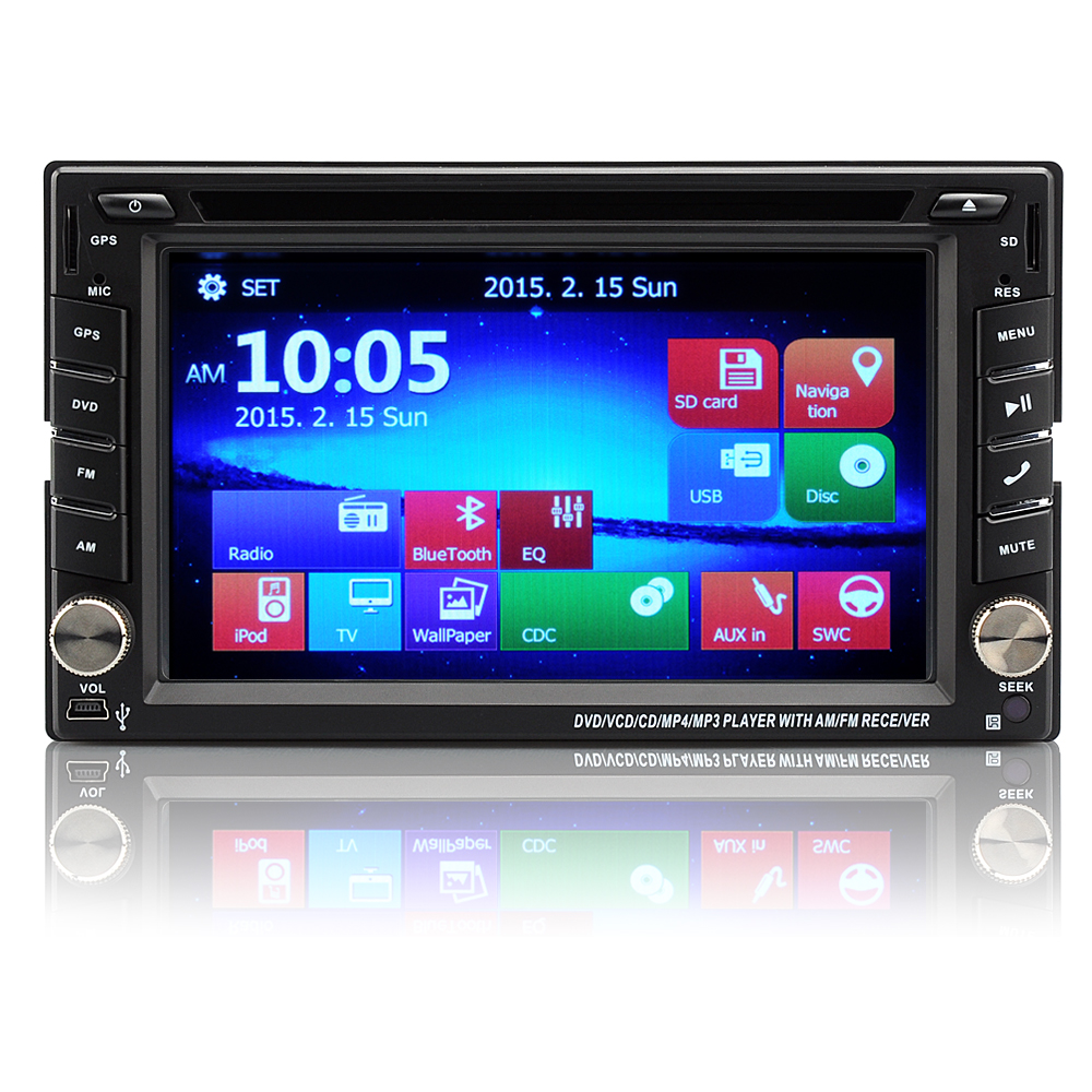 2 din universal bluetooth gps car dvd player windows ce. Black Bedroom Furniture Sets. Home Design Ideas