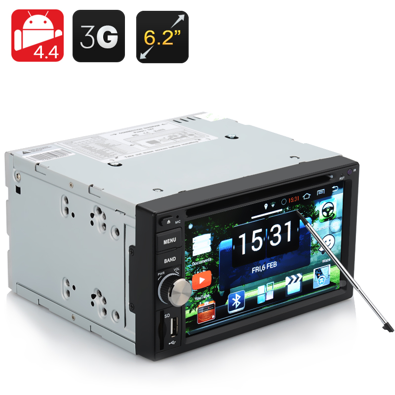 Wholesale Panthera - 2 DIN Android 4.4 Car DVD Player (6.2 Inch, 3G, Wi-Fi, GPS, Bluetooth, 800x480)
