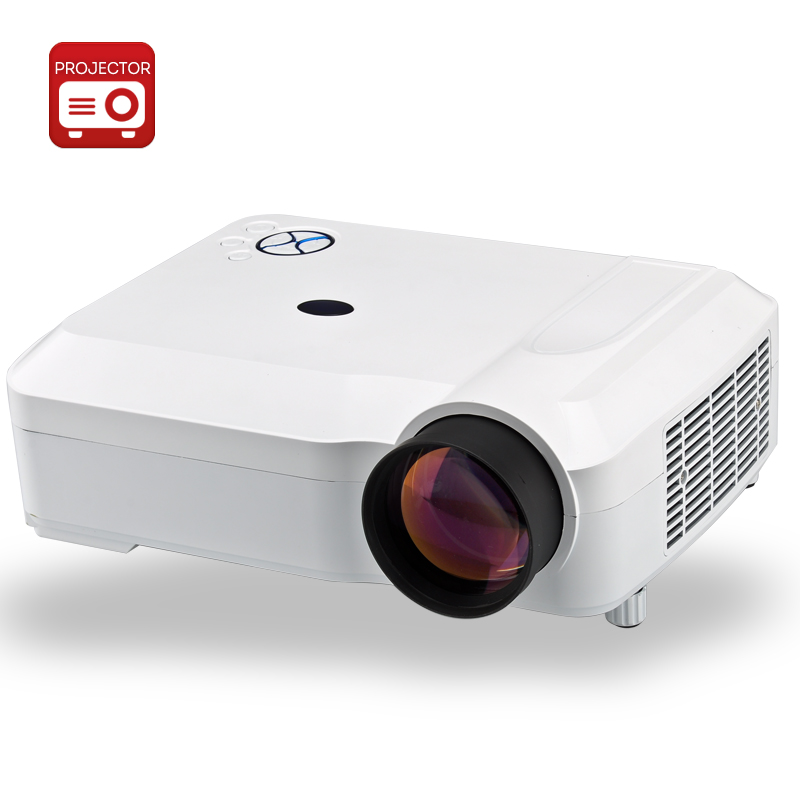 Wholesale 3800 Lumens HD LED Projector with 5.8 Inch LCD Panel (1280x768, 2000: 1, 170W, White)