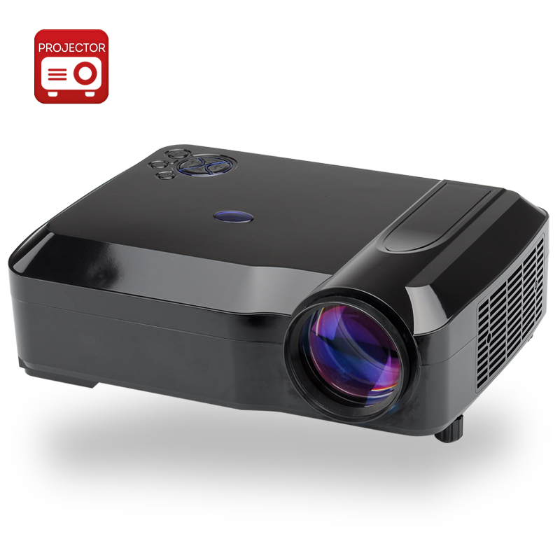 Wholesale 3800 Lumens HD LED Projector with 5.8 Inch LCD Panel (1280x768,