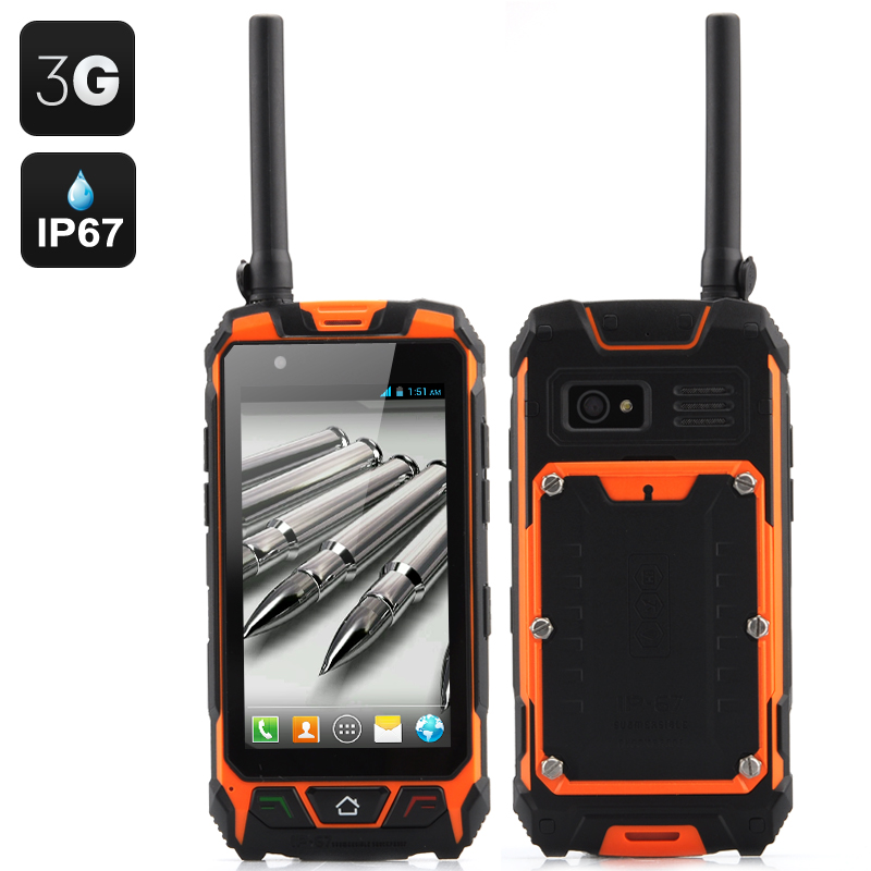 Wholesale 4.5 Inch IP67 Rugged 3G Smartphone with Walkie Talkie (Waterproo