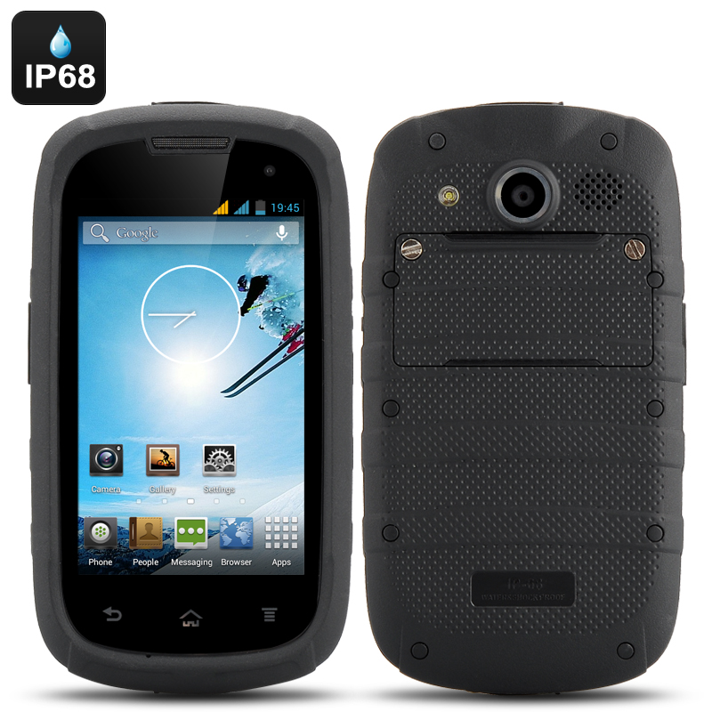 Wholesale 4 Inch Rugged Android Smartphone (IP68 Waterproof + Dust Proof, Dual Core 1.3GHz CPU, 4GB)