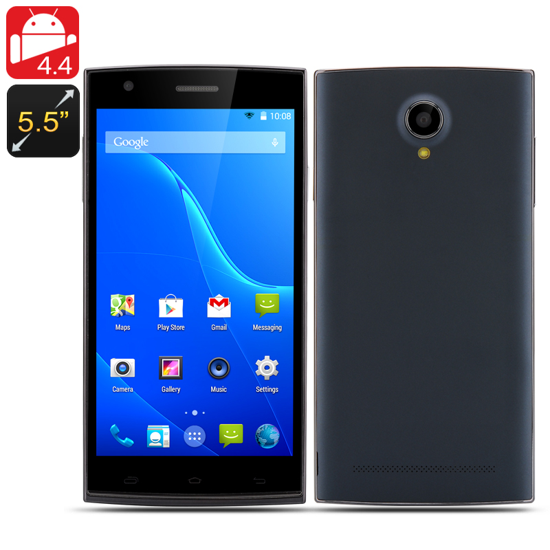 Wholesale 5.5 Inch Octa Core Android 4.4 Smartphone (1GB RAM, 16GB ROM, Dual SIM, Black)