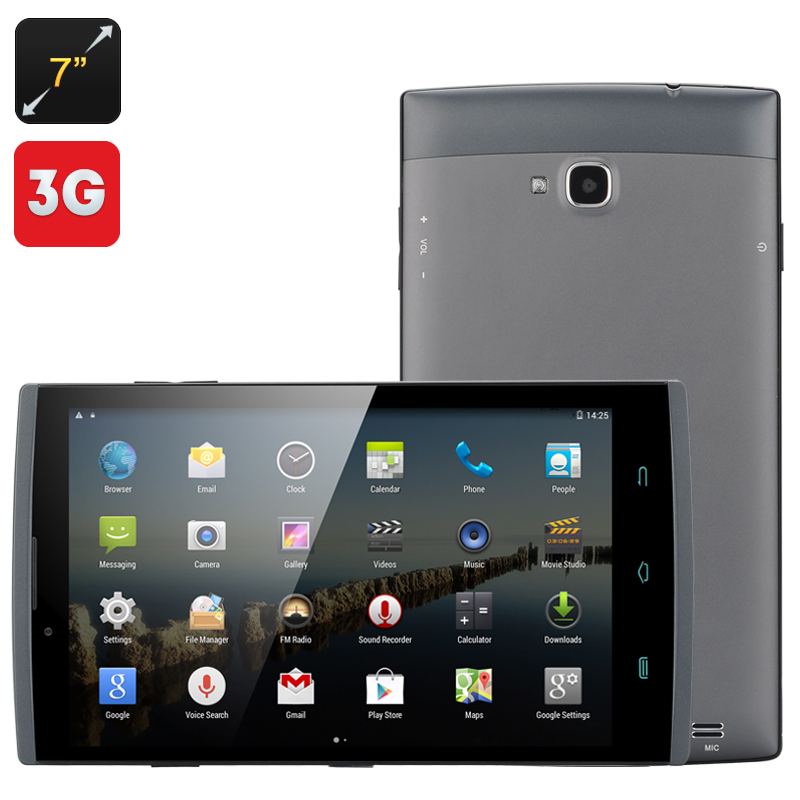 Wholesale 7 Inch 3G Android 4.4 Tablet Phone (Dual SIM, 1.3GHz Quad Core C